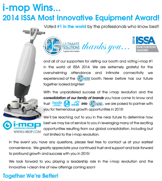 i-mop Wins Award News Release